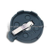 Battery Holder for 3V Single Coin Button Cell Type Battery, OEM Orders are Welcome