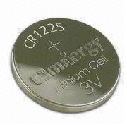 Lithium/Manganese Dioxide Button-cell Battery with 50mAh Nominal Capacity