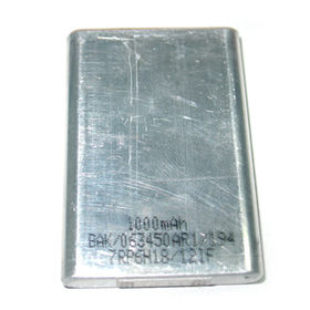 Lithium-ion Rechargeable Cell Battery, Rectangle Type, 3.7V, 1,000mAh, UL1642 Mark from Shenzhen BAK Technology Co. Ltd