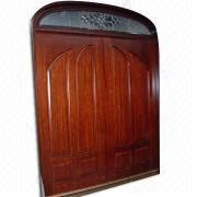 China Solid Wood Door, Made Of Mahogany, Cherry, Oak And Walnut