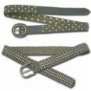 Studded Leather Belts from China (mainland)