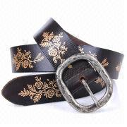 Printed Suede Belts from China (mainland)