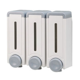 Wall-mounted Soap Dispenser, Made of ABS, Measures 16.2 x 16.8 x 8.1cm from Harvest Cosmetic Industry Co Ltd