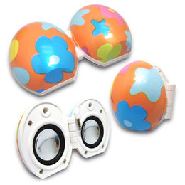 Hong Kong SAR Egg-shaped Mini Speakers, Compatible with iPod and MP3/MP4 Players