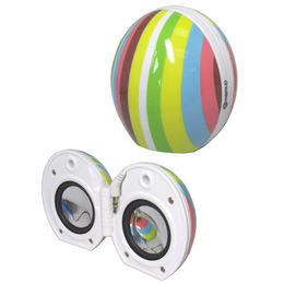 Egg-shaped Portable Stereo Speaker for iPod, Customized Patterns, Colors and Logo Accepted from UPO Technical Products Ltd