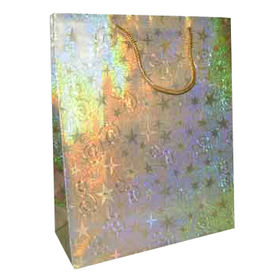 Laminated Art Paper Bag, Various Sizes and Printed Designs Available, Hologram from Everfaith International (Shanghai) Co. Ltd