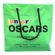 China LDPE Rope Handle Bag with Cardboard Top and Bottom, Available in Green