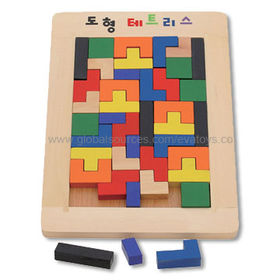 Wooden Block Toy to Inspirate Kid's Imagination, Measuring 30 x 21.5 x 2cm