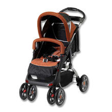 China Stroller with Rotatable Front and Braking Rear Wheels
