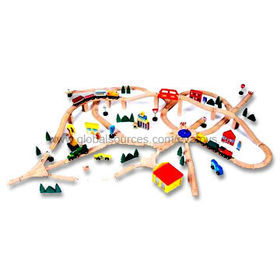 Wooden Toy Train Set from China (mainland)