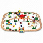 53.3x33.3x9.5cm Children's Play Wooden Train Set Manufacturer