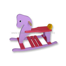 Pink Color Wooden Horse