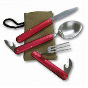 Camper Dining Kit with Foldable Knife