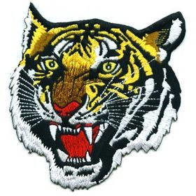 Taiwan Tiger Embroidered Patch, Sew-on Jeans, Bags and Shoes Motifs Applique