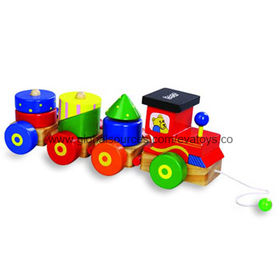 Colorful Wooden Toy Train Manufacturer