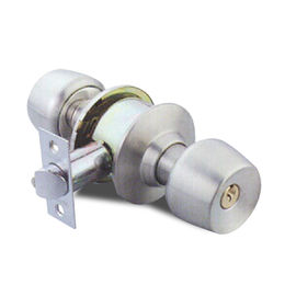 Cylindrical Lockset with Wine Glass-type Knob from Kin Kei Hardware Industries Ltd