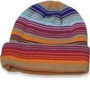 100% Acrylic Knitted Winter Hat from China (mainland)