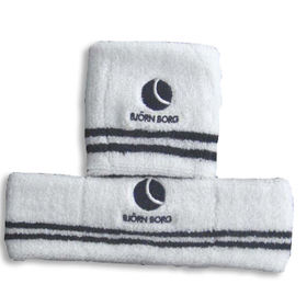 Wristband/Headband Set with Embroidery Logo Design, Made of 100% Cotton Terry