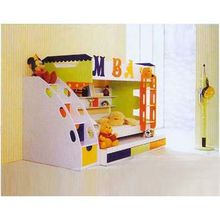China Double Bed, Measuring 2,050 x1,060 x 1,667mm, Suitable for the Primary School Dormitory