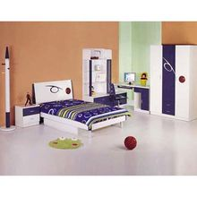 China Children's Bedroom Furniture, Combined with Single Bed, Wardrobe, Bookshelf and Bedside Cabinet