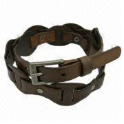 Brown Leather Belt from China (mainland)