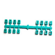 Taiwan Rubber and Plastic Molds for Customized Double Injection Key, Available in Various Colors