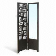 Folding Screen with Wooden Frame Mirror, Photos and FSC Mark, Various Sizes and Colors are Available
