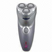 Rechargeable Men's Shaver with Three Floating Heads, Hair Trimmer and Travel Case