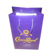 Art Paper Bag with Large Logo Printing Area and Rope Handle, Various Sizes are Available from Everfaith International (Shanghai) Co. Ltd