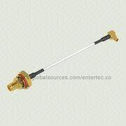 MMCX Jack Cable with O-ring to MMCX M Right Angle Plug and SMA F S/T Bulkhead for 0.81mm Mini Cable from EnterTec Technology Inc.