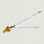 UFL Coaxial Cable for Waterproof Antenna, with SMA F S/T Bulkhead Jack, with O-ring 1.13mm RF Cable