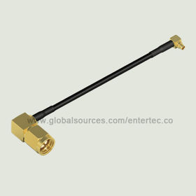 RF Coaxial Connector and LMR Cable with SMA(M) R/A Plug to MMCX(M) R/A Plug