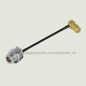 RF Coaxial Connector and LMR Cable with N(F) S/T Bulkhead Jack Front Mount to SMA(M) R/A Plug