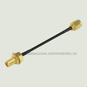 Custom RF Coaxial Connector and LMR Cable with SMA(F) S/T R/P Bulkhead Jack to SMA(M) S/T R/P Plug from EnterTec Technology Inc.