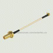 RG-178 Flexible RF Microwave Cable with Male MMCX R/A Plug to Female SMA S/T R/P Jack from EnterTec Technology Inc.