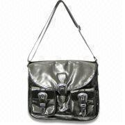 Crinkle and Patent Synthetic Leather Handbag Manufacturer