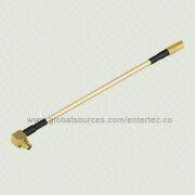 RF Connector Cable Assembly with Male MMCX R/A Plug to Female MCX S/T Jack from EnterTec Technology Inc.
