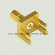 PCB Mount RF Connector with Male SMB Contact S/T Jack for Edge Mount