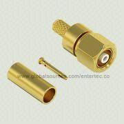 RF Connector with Female SMC Contact S/T Coaxial Plug Plug for RG-174/316 Cable from EnterTec Technology Inc.