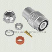 Coaxial RF Connector with TNC M S/T Plug Clamp for RG-141/303/LMR-195 from EnterTec Technology Inc.