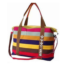 Canvas Striped Handbag, Made of Canvas and Nylon, Durable and Economic, Customized Logos Available