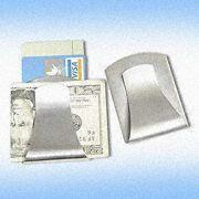 Compact Stainless Steel Money Clip with Credit Card Holder