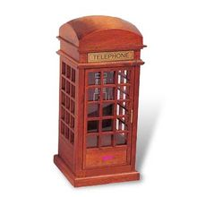 Best Wooden Telephone Booth, Made of Solid Wood, Measures 22.8 x 9.8 x 9.9cm, Confirms to EN 71 Test