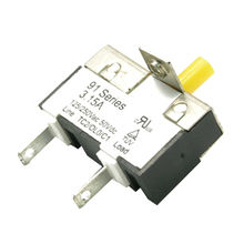 1.0 to 10.0A 91 Series Thermal Circuit Breaker with 125/250V AC, 50V DC Voltage