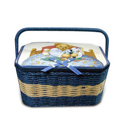 Woven Sewing Basket from Taiwan