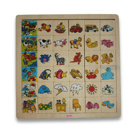 China Alphabet Puzzle, Available in Various Types of Toys and Puzzles, Made of Plywood
