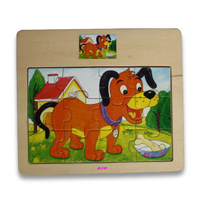 China Developmental Toy, Various Promotional, Cartoon and Sliding Puzzles are Available, Made of Plywood
