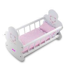 EN 71 2013 New Design Comfortable Baby Rocking Cradle Wooden Crib Manufacturer