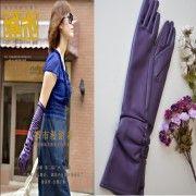 Wholesale 40cm Long leather ladies gloves violet(opera/dres, 40cm Long leather ladies gloves violet(opera/dres Wholesalers