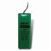 Hong Kong SAR Kinetic NiMH Battery Pack with Nominal Voltage of 1.2V, Different Sizes are Available